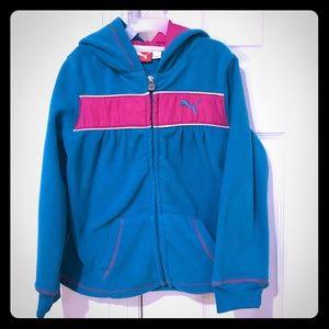 🎀 Puma Toddler Girls Green Fleece Hoodie Size 5T